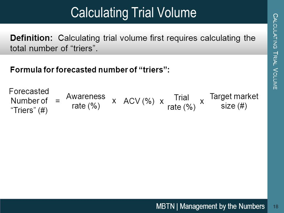 Calculating Trial Volume