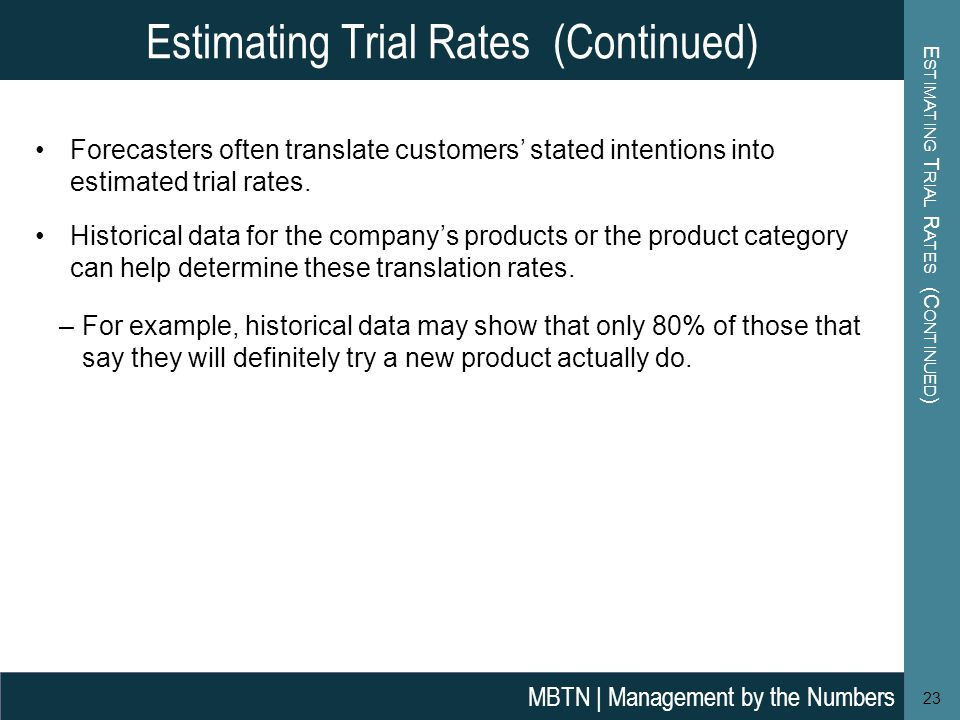 Estimating Trial Rates (Continued)