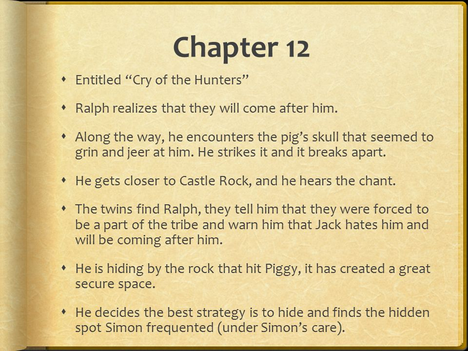 chapter 12 lord of the flies summary