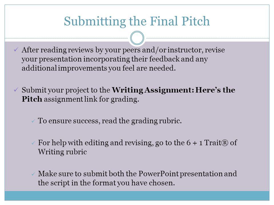 Script Writing Assignment