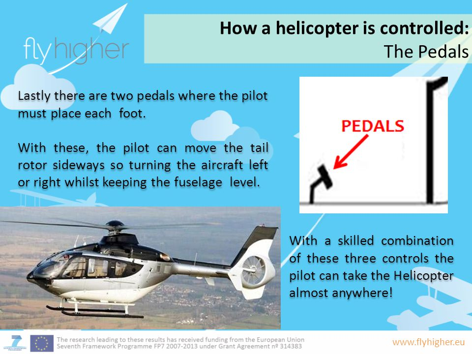How a helicopter is controlled: The Pedals