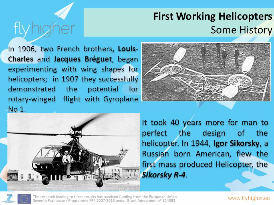 First Working Helicopters Some History