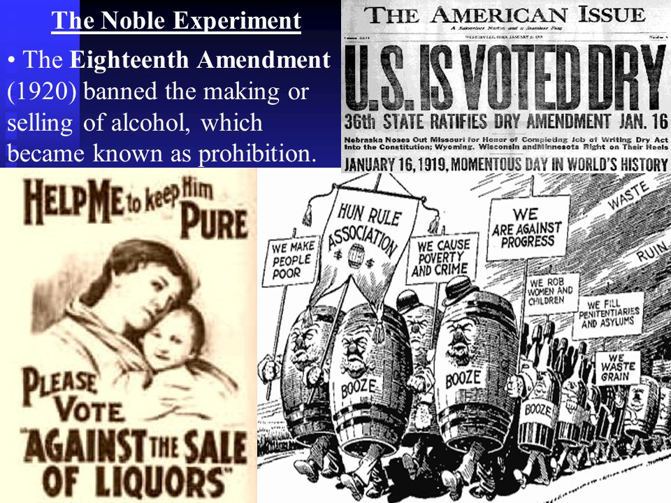 noble experiment 1920