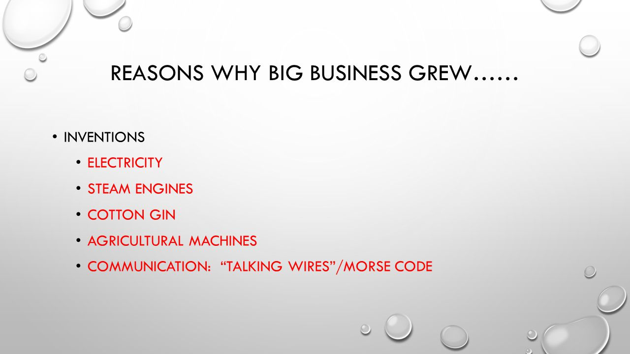 Why did Big business grow? - ppt video online download