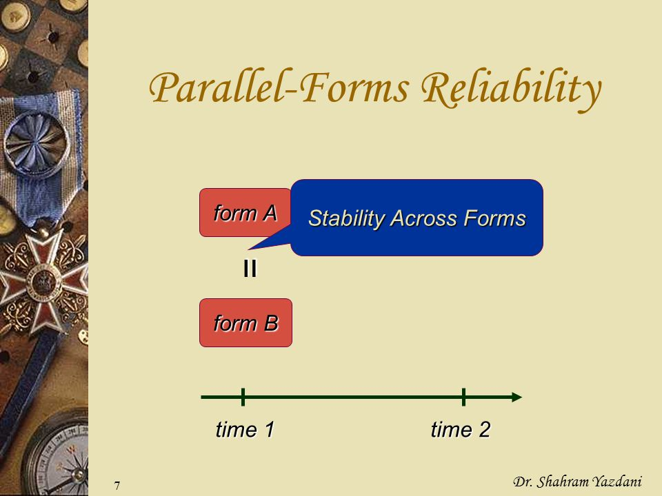 Parallel-Forms Reliability