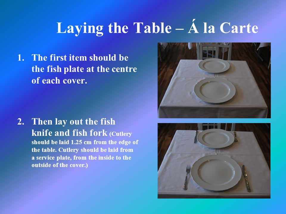 5 Laying The Table
