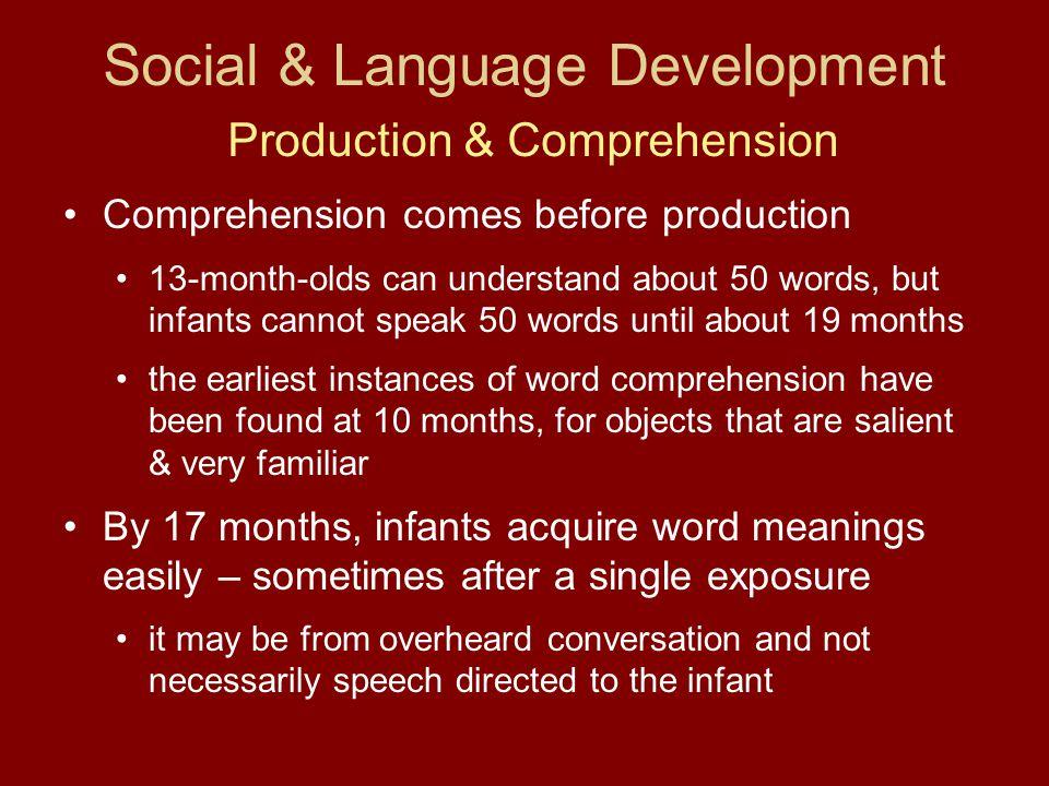 Social & Language Development Production & Comprehension