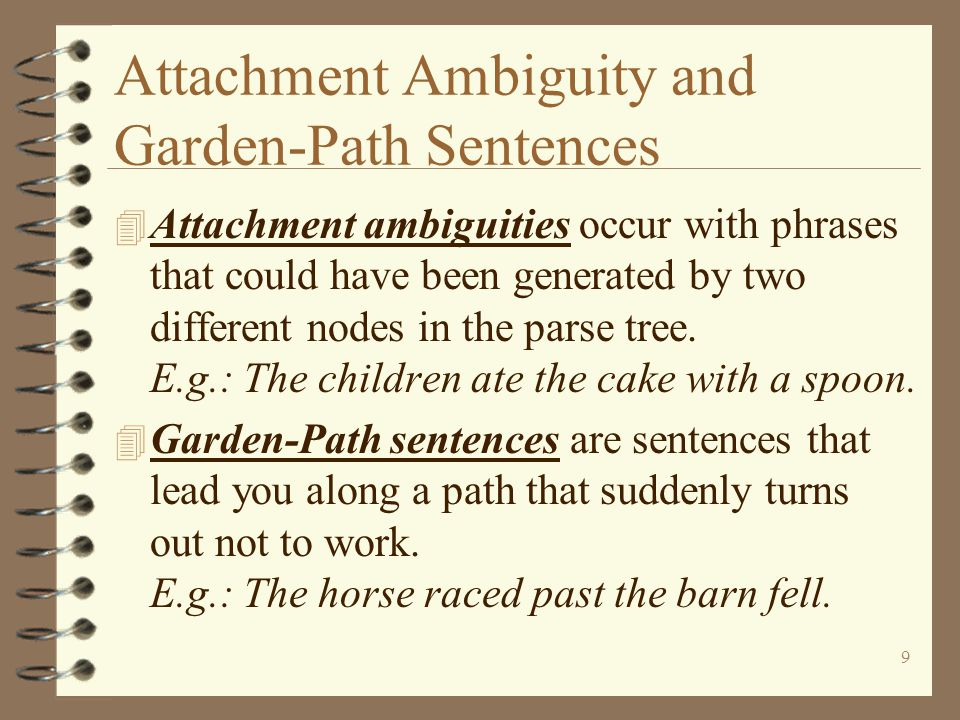 Attachment Ambiguity and Garden-Path Sentences