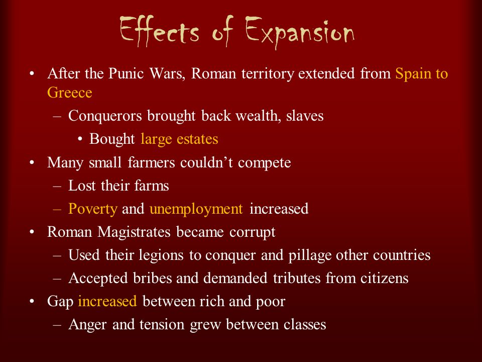 effects of the punic wars