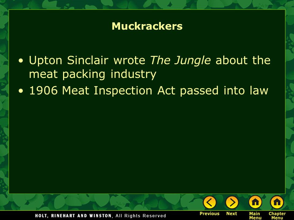 why did upton sinclair write the jungle