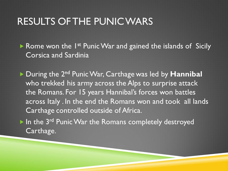 Results of the Punic Wars