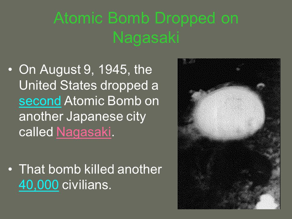 Atomic Bomb Dropped on Nagasaki