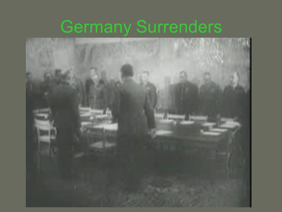 Germany Surrenders