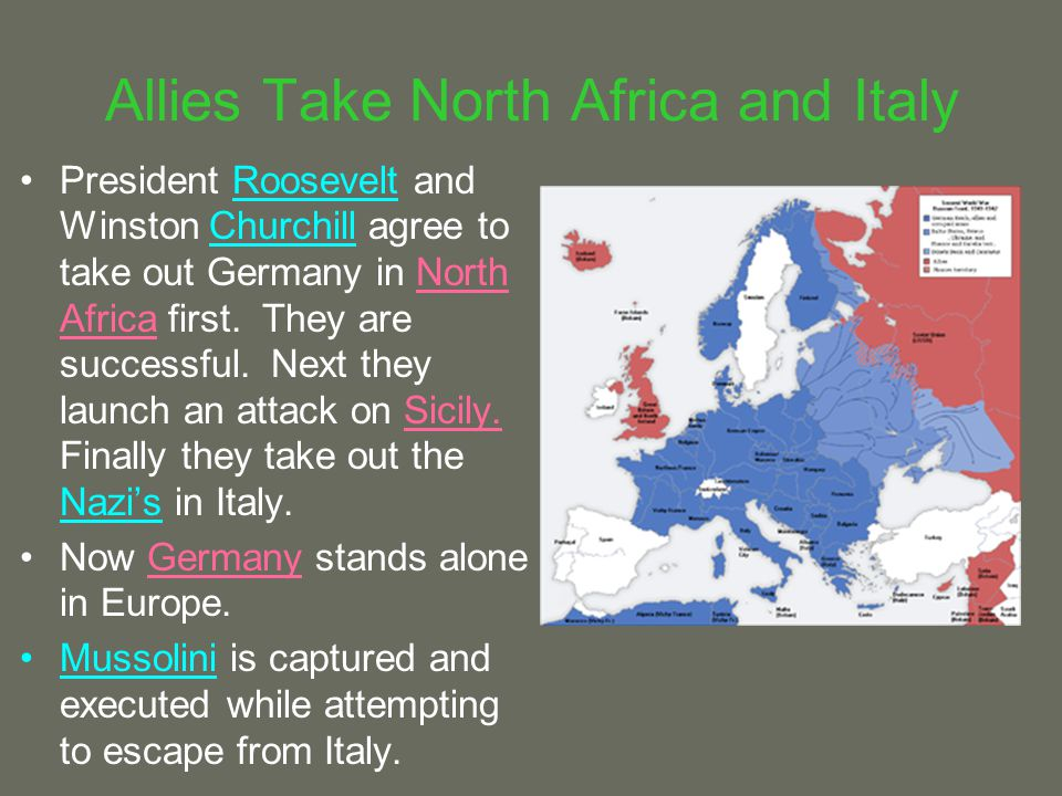 Allies Take North Africa and Italy