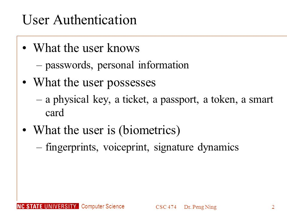 CSC 474 Information Systems Security - ppt download