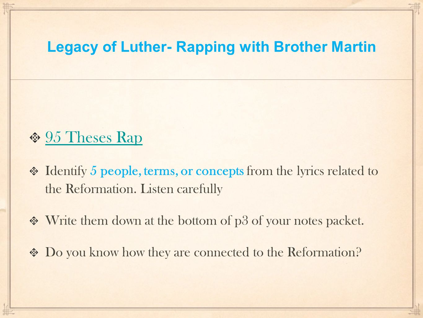 95 theses summary