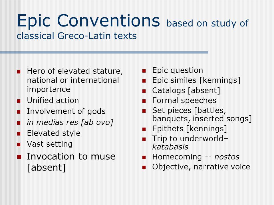 define epic conventions