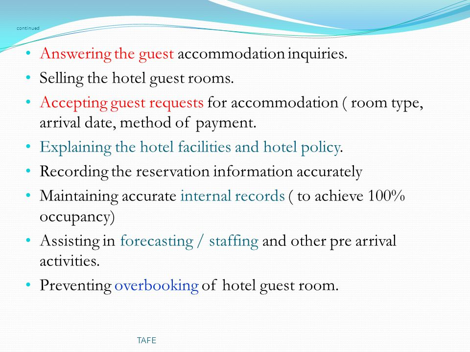 pre arrival letter to hotel for corporate guest hashdoc hotel organisation tafe ppt 728