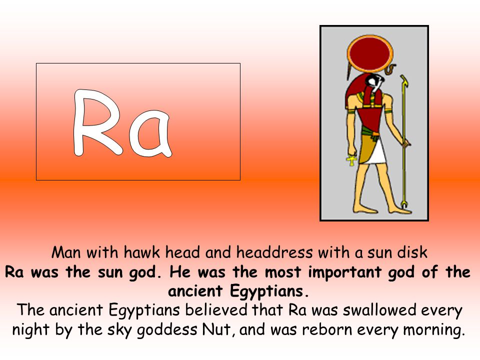 Egyptian gods ppt video online download ra was the sun god he was the most important god of the publicscrutiny Image collections