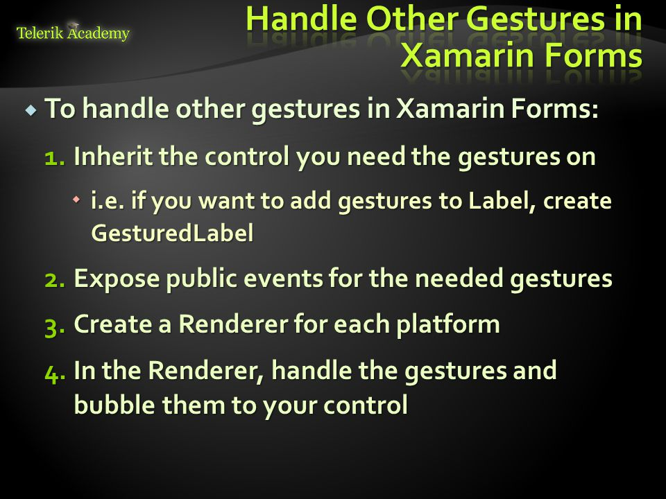 Touch and Gestures with Xamarin Forms - ppt video online download