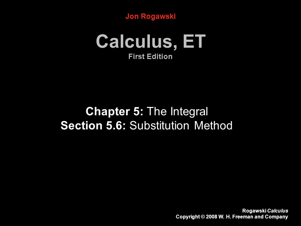 Calculus, ET First Edition