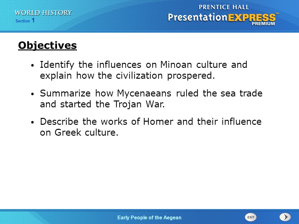 how did the minoans influence the mycenaeans