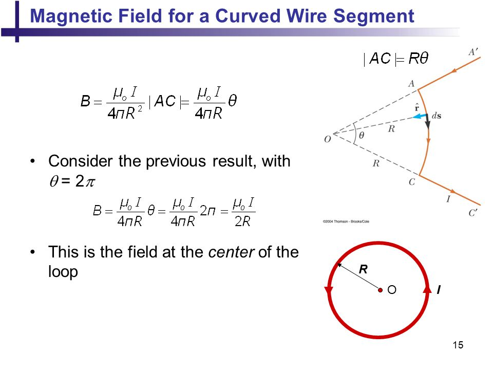 Magnetic Field for a Curved Wire Segment