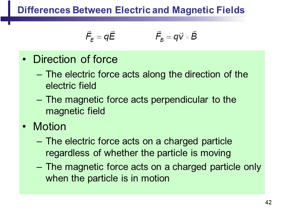 Direction of force Motion