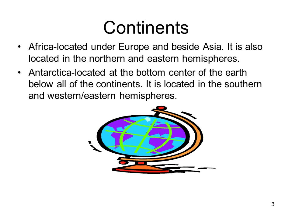 Lovely Continents Africa Located Under Europe And Beside Asia. It Is Also Located  In The