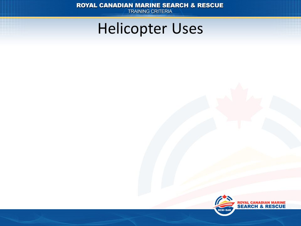 Helicopter Uses