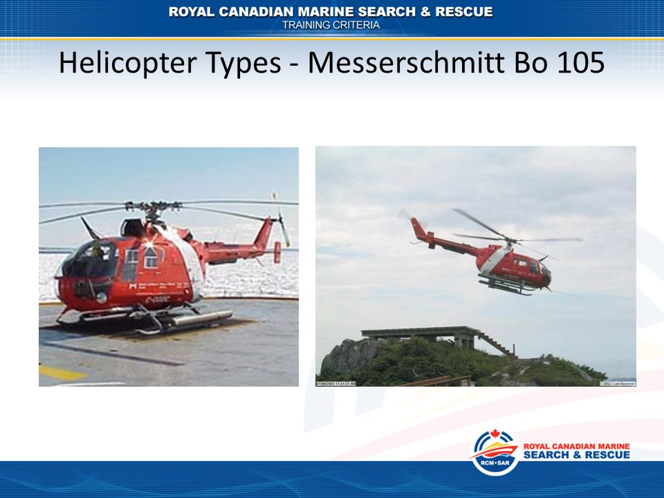 Helicopter Types - Messerschmitt Bo 105