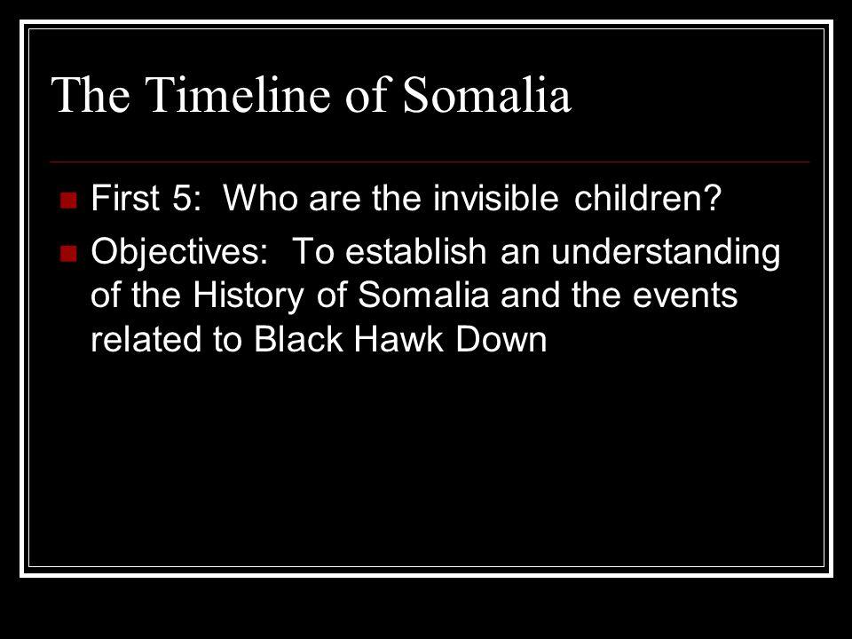 The Timeline of Somalia - ppt download