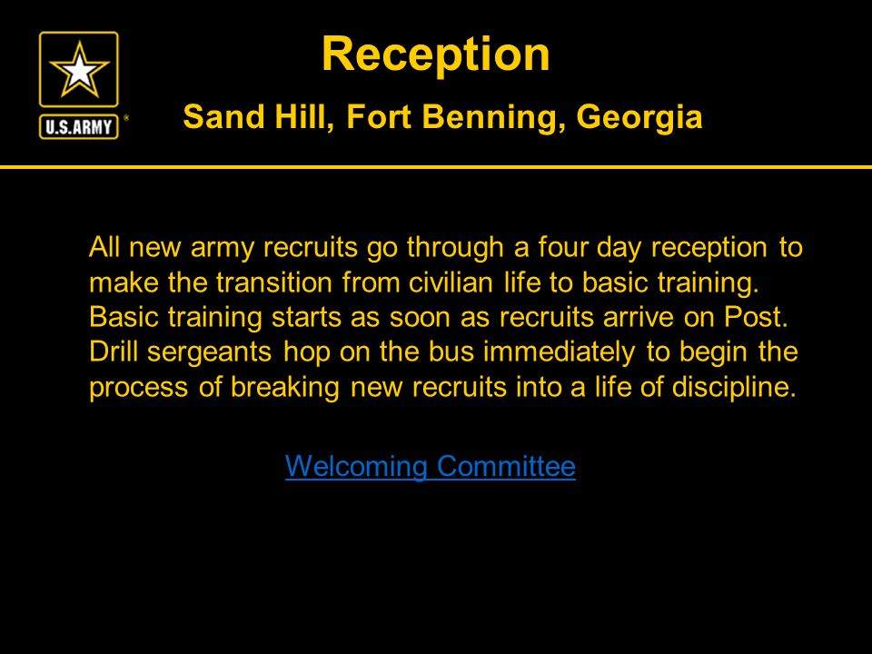 Pictures in this presentation were taken at Fort Benning