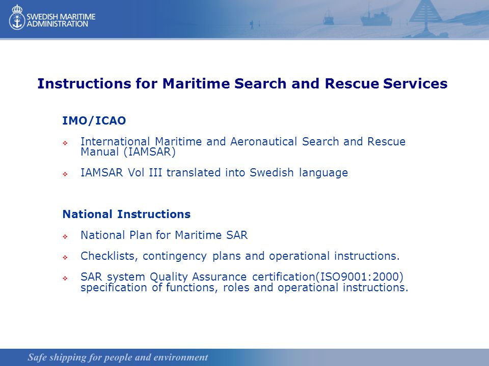 Swedish Search And Rescue Services Mission Co Ordination Ppt Download