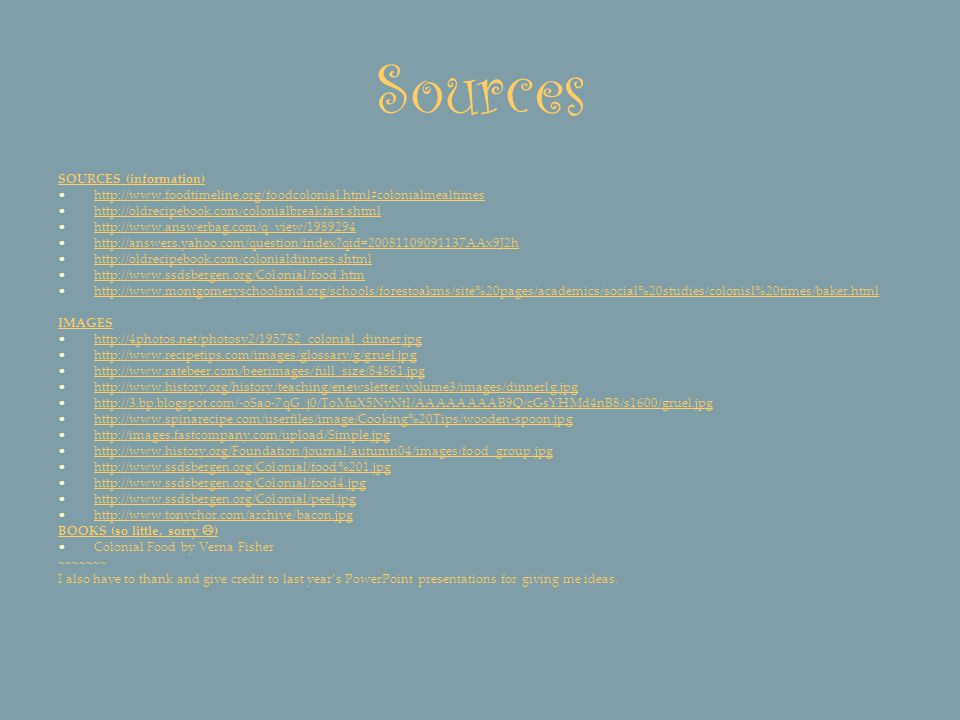 Sources SOURCES (information)
