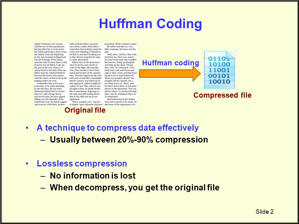 Huffman > data structures & algorithums.