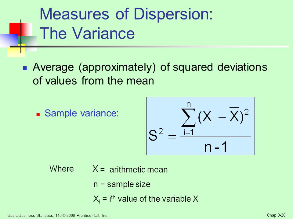 Measures of Dispersion: The Variance