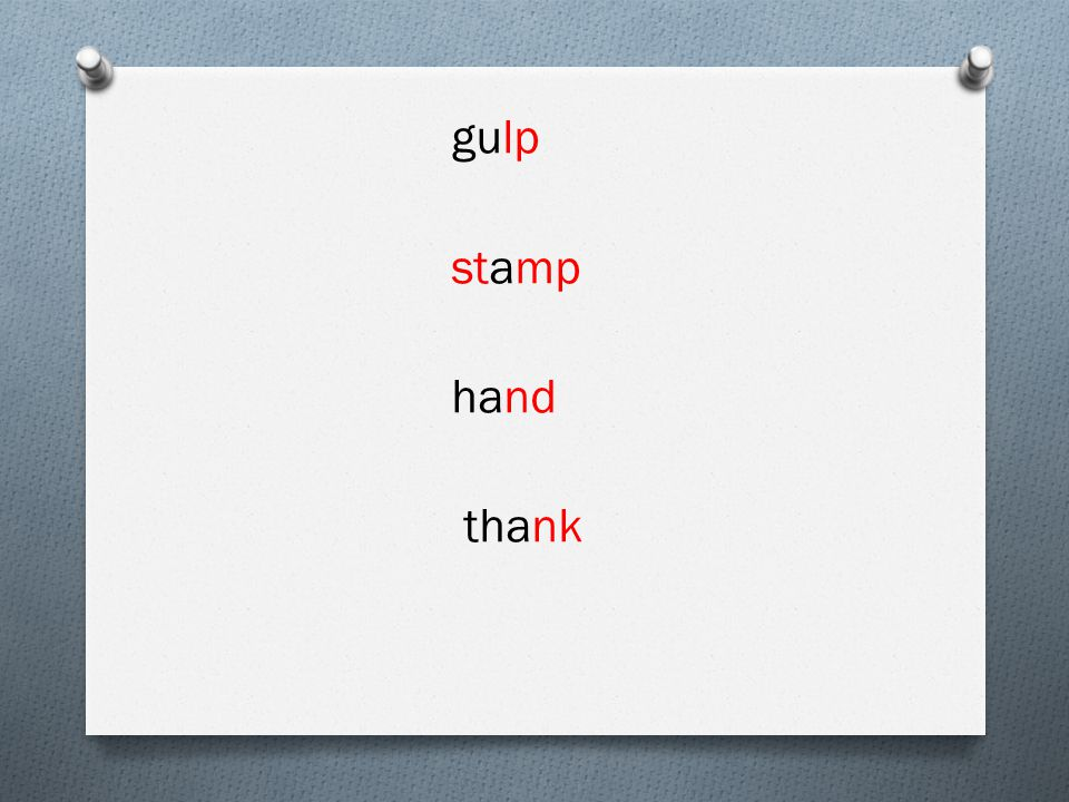 gulp stamp hand thank