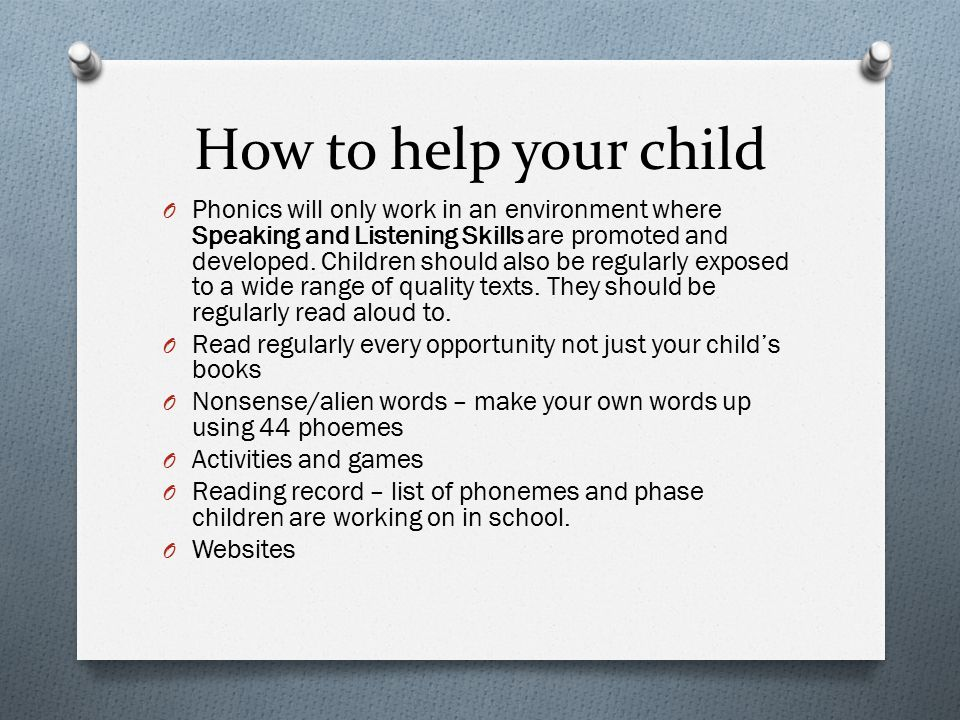 How to help your child