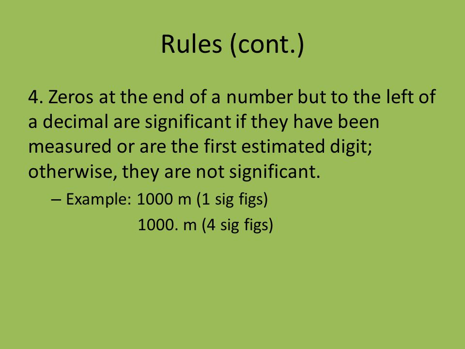 Rules (cont.)