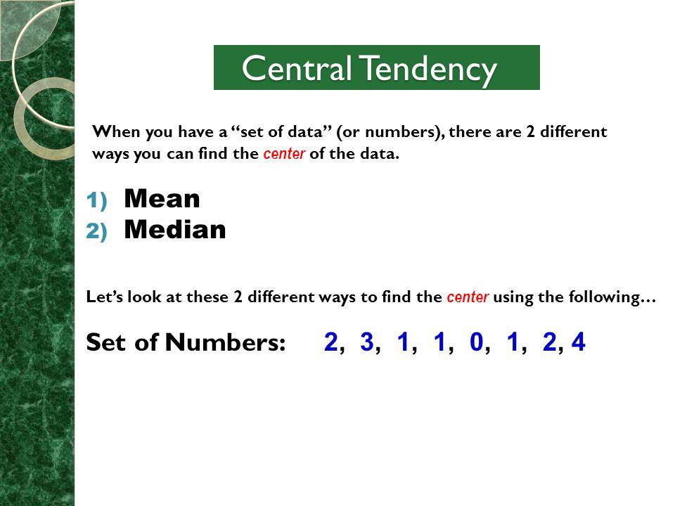 7th grade math mean median and range obj 5b ppt download