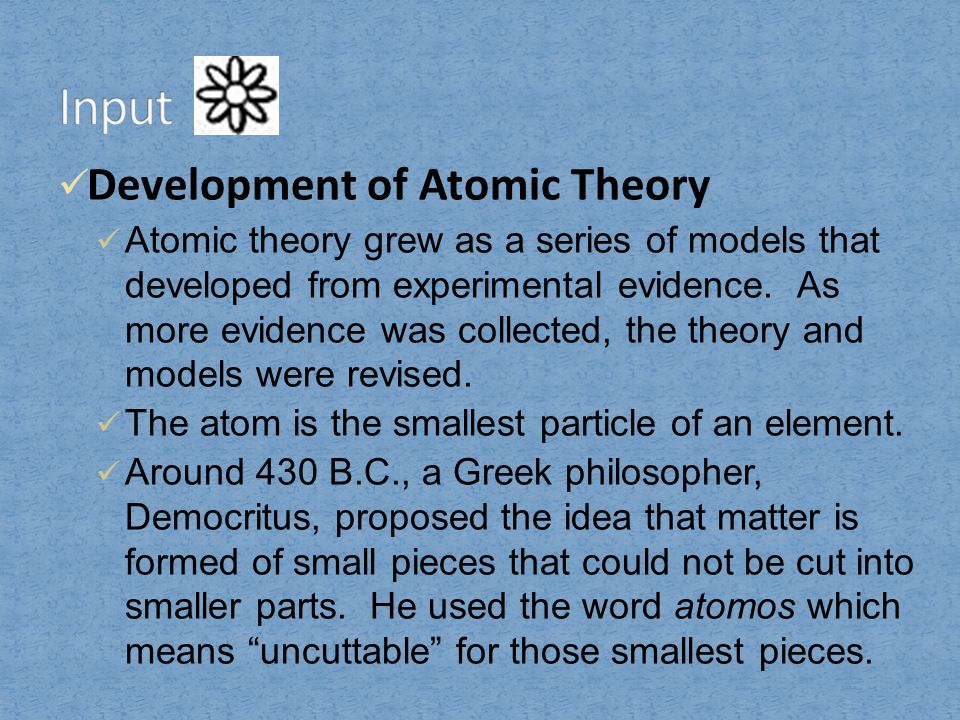 41 Introduction To Atoms Ppt Video Online Download. 6 Input Development Of Atomic Theory. Worksheet. Chapter 6 Development Of Atomic Theory Worksheet At Mspartners.co