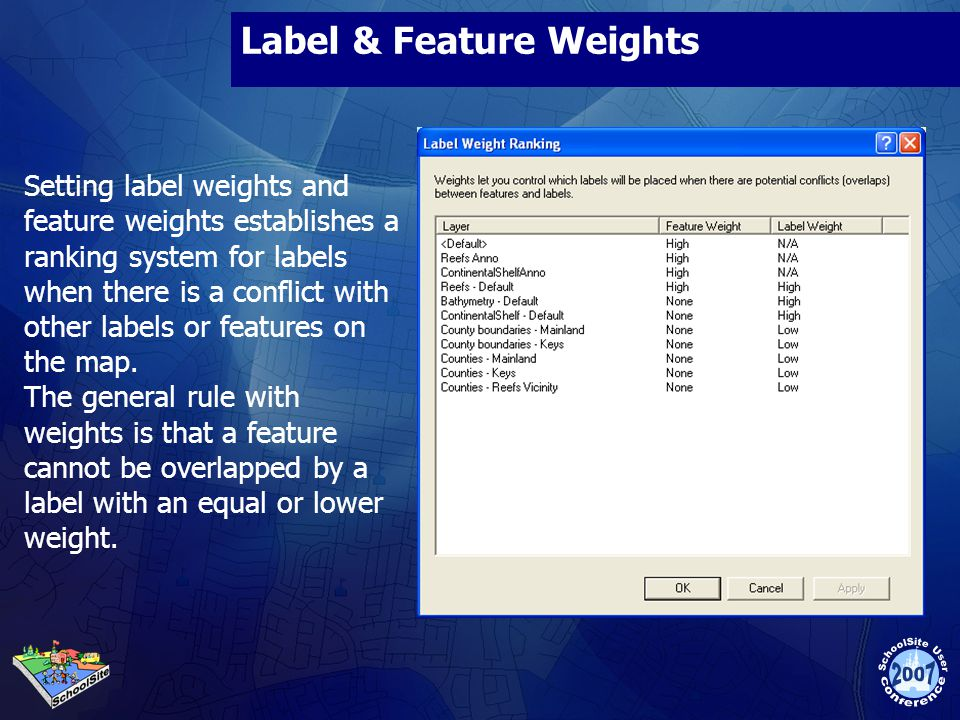 Label & Feature Weights