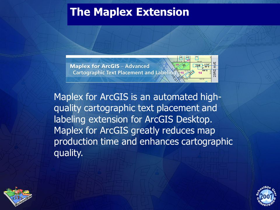 The Maplex Extension