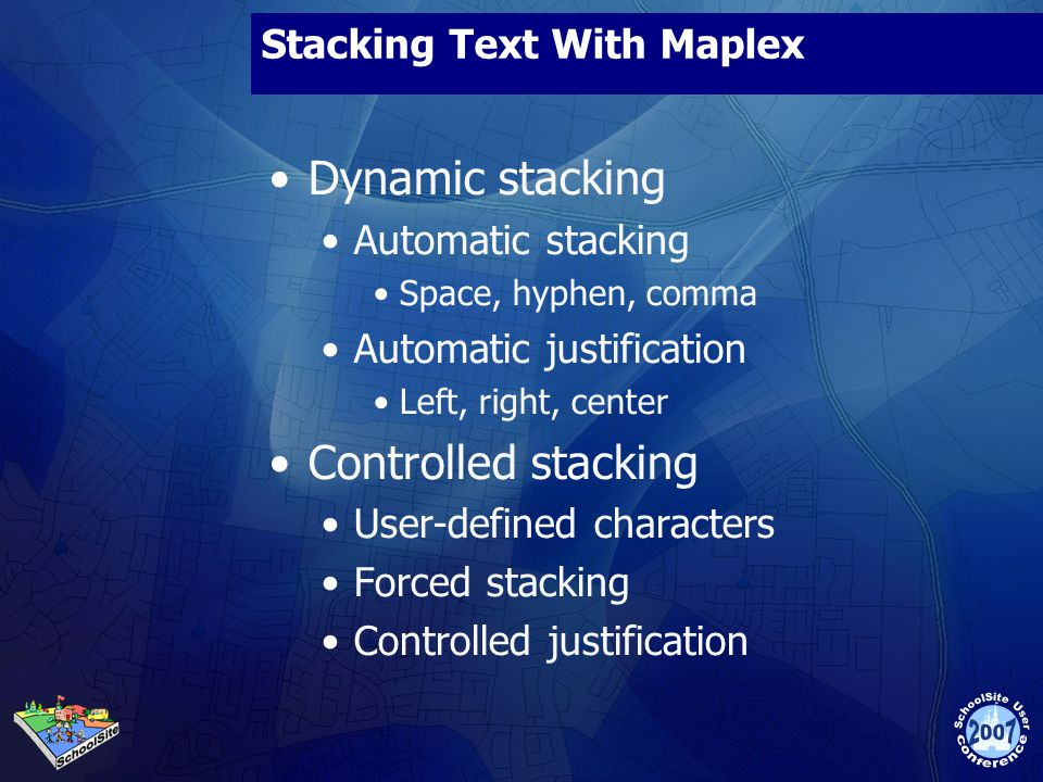 Stacking Text With Maplex