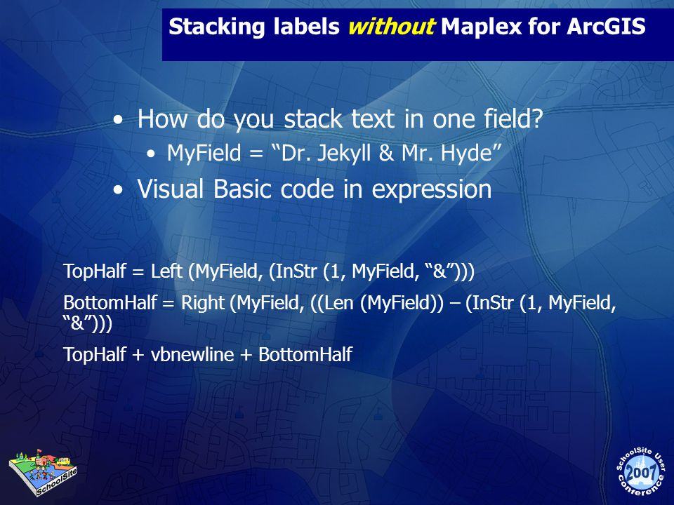 Stacking labels without Maplex for ArcGIS