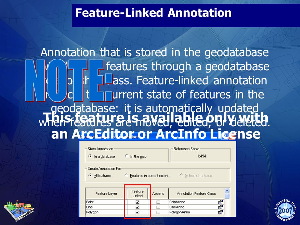 Feature-Linked Annotation