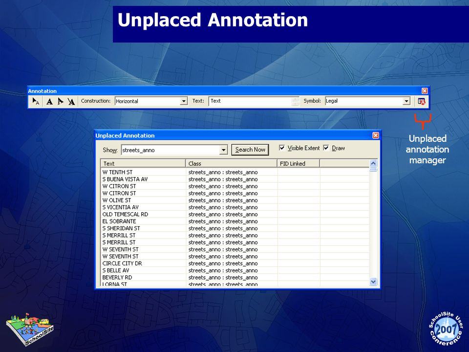 Unplaced annotation manager