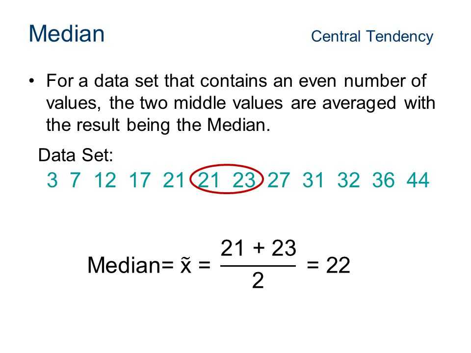 how to find central tendency