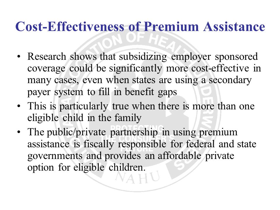 Cost-Effectiveness of Premium Assistance